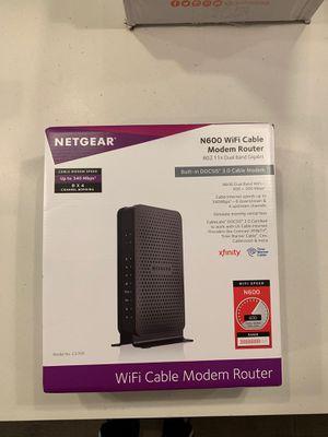 Netgear N600 WiFi Cable Modem Router for Sale in Bellevue, WA