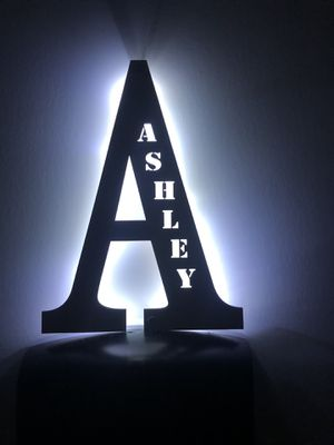 Personalized wooden letter and name for Sale in Orlando, FL