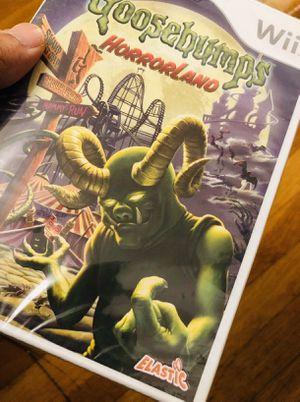 Brand new Nintendo Wii goosebumps horror land rare game for Sale in Providence, RI