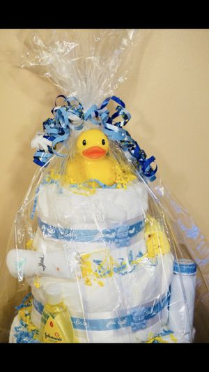 Diaper cake for boy for Sale in Alexandria, VA