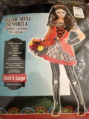 Girls Sugar Skull Day of the Dead Costume for Sale in Glendale, AZ