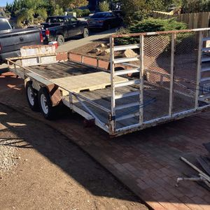 18 Foot Utility Trailer With Ramp for Sale in Corona, CA