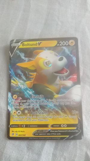 BOLTUND POKEMON CARD. NOT FREE. NO CREASES. NO BENDS. JUST OPENED. I HAVE MORE CARDS for Sale in Artesia, CA