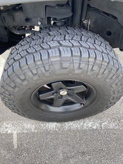 Jeep Wrangler wheels with tires 5x5 rims for Sale in Pompano Beach,  FL