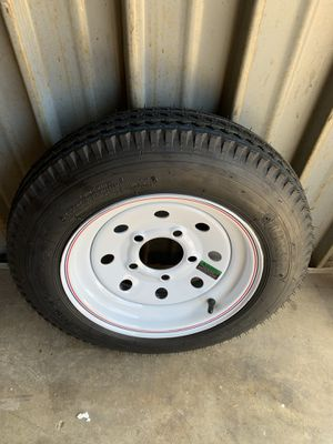 Loadstar 480-12 K353 BIAS 780 lb. Load Capacity White with Stripe 12 in. Bias Tire and Wheel Assembly for Sale in Dallas, TX