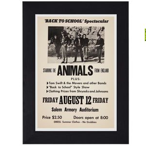 The Animals Eric Burdon England 60s 70s Classic Rock print mini concert poster flyer music for Sale in Covina, CA