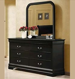 Dresser with mirror black finish for Sale in Kent,  WA