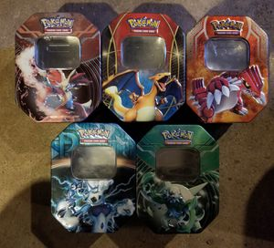Pokemon tins collectible $25 for all for Sale in Portland, OR