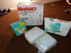 Different brand diapers all size 1 for Sale in Kannapolis, NC