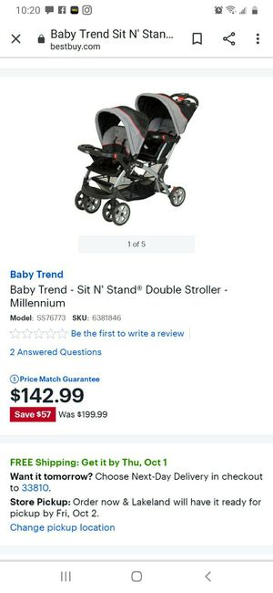 Baby Trend sit n stand double stroller for Sale in Lakeland, FL
