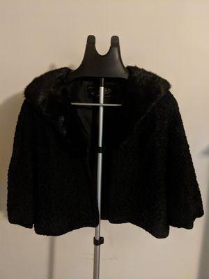 Fur Coat - C. Miller (Philadelphia, PA) vintage fur collar 3/4 evening jacket for Sale in Fort Washington, MD