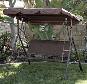 SHIPPING ONLY Patio Swing Set 3 Person Capacity for Porch Garden Outdoor Home Areas for Sale in Las Vegas, NV