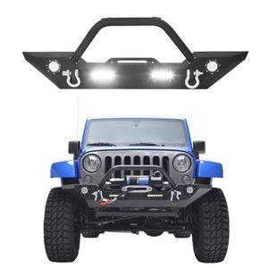 07-18 Jeep Wrangler JK Front Bumper + Winch Plate D-ring LED Light Bull Bar for Sale in Fullerton, CA