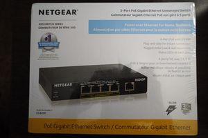 Netgear 5 Port PoE Gigabit Ethernet Unmanaged Switch for Sale in Edmonds, WA