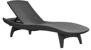 Keter Pacific Grey Sun Longer Chaise Pool Chairs Resin Plastic Rattan Sillas de Piscina Gris for Sale in Miami, FL