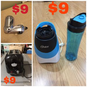 Bread toaster - blender - water filter -9$ each for Sale in North Andover, MA