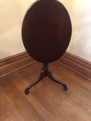 Small tilt top table. Solid wood for Sale in Beckley, WV
