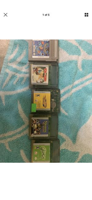 5 game boy colors cartoon games for Sale in Columbus, OH