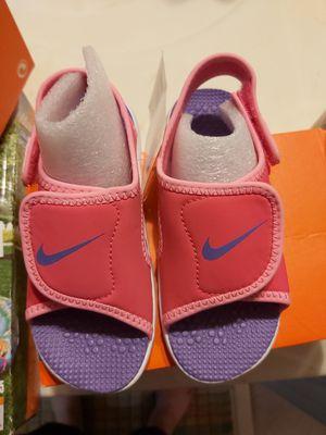 New NIKE toddler girl sunray sandals size 9 size 10 for Sale in Alpharetta, GA