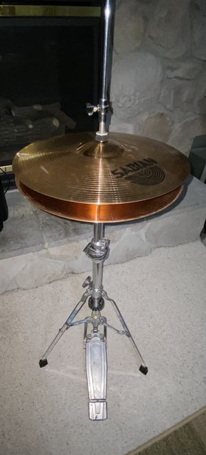"""Sabian B8 14"""" Hi Hat Cymbal Set with Pedal & Stand for Sale in Gaithersburg, MD"""