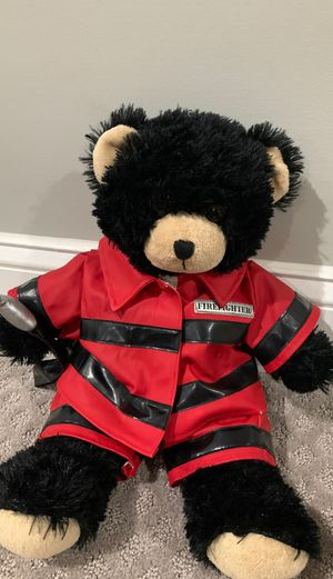 Fire fighter stuffed animal build a bear for Sale in Alexandria, VA
