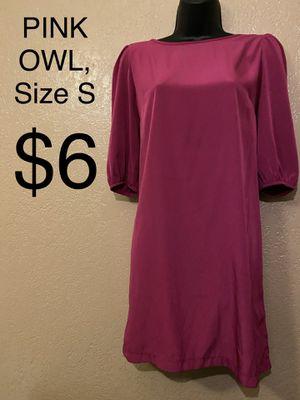 PINK OWL, Hot Pink 3/4 Sleeve Dress, Size S for Sale in Phoenix, AZ