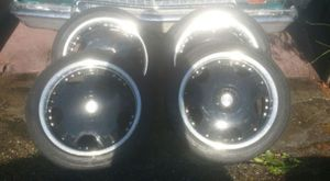 "18"" BSA Black and Chrome Rims with Tires for Sale in Seattle, WA"