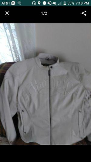 XL Women's Harley Davidson White Leather Coat for Sale in Lynchburg, VA