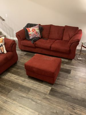 A sofa, loveseat and ottoman. for Sale in Nashville, TN