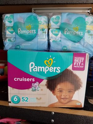 Pampers size 6 & baby wipes for Sale in Blacklick, OH