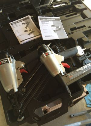 2 TWO PORTER CABLE NAIL AND STAPLE GUN FOR UNHEARD OF PRICES for Sale in Los Angeles, CA