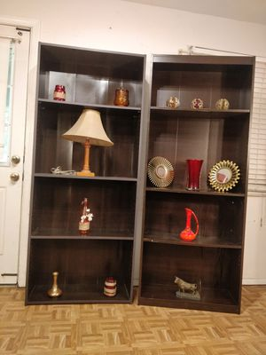 ($85 for both) 2 bookcases/shelves with adjustable shelves in good condition Driveway pickup. for Sale in West Springfield, VA