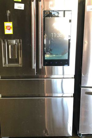 Brand New Samsung 22.2 cu. Ft. Family Hub 4-Door French Door Polygon Handle Smart Refrigerator in Stainless Steel, Counter Depth 6 SY for Sale in Mesquite, TX