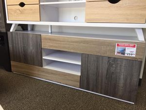 TV Stand for TVs up to 70 Inch, White & Dark Taupe & Distressed Gray for Sale in Norwalk, CA