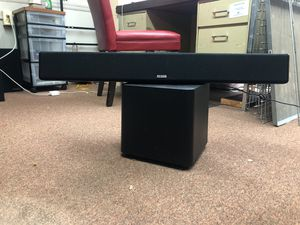 POLK AUDIO sound bar with wireless subwoofer for Sale in Hatboro, PA