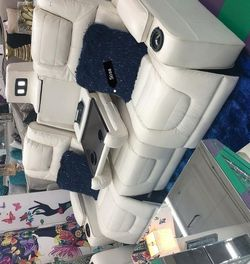 ⚡New Party Time White LED Power Reclining Living Room Set with Adjustable Headrest by Ashley▶️🚚SAME DAY Delivery for Sale in Silver Spring,  MD