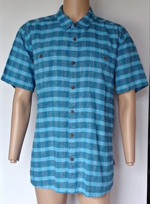 Patagonia Men's Blue Plaid button up short sleeve Camp Shirt Size XL for Sale in Dallas, TX
