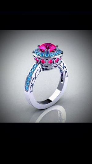 925 NatuRaL RuBy INLaid AAA CuBic ZirCoNia RiNg for Sale in Bountiful, UT