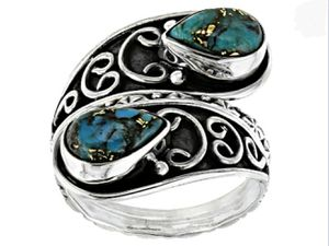 Blue Turquoise Sterling Silver Ring for Sale in Wichita, KS