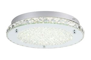 Auffel Modern Minimalist LED Ceiling Light,K9 Crystal+Glass+Metal Flush Mount Light Fixture,11-Inch Dimmable Chandelier for Sale in Valencia, CA