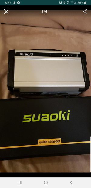Suaoki solar generator with solar panel for Sale in Los Angeles, CA