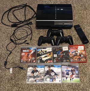 Sony PlayStation 3 PS3 80GB BUNDLE (7 GAMES) (3 CONTROLLERS) for Sale in Mount Joy, PA