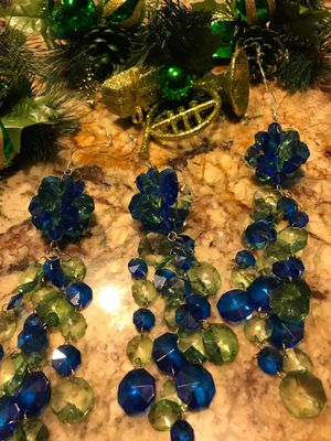 3 Christmas tree ornaments & 4 green fillers for Sale in Chula Vista, CA