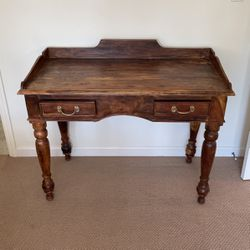 Brown Wood Desk With Two Drawers for Sale in Los Angeles,  CA