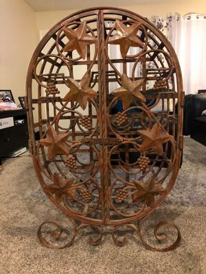 Beautiful iron wine rack 👌 good condition. Vintage for Sale in Tustin, CA