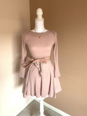 Cute pink dress with leather bow for Sale in Dublin, CA