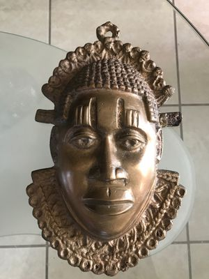 African bronze mask for Sale in Miami, FL