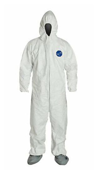 DuPont 2X-Large White Tyvek 400 Hood, Boots, & Elastic Wrists Disposable Coveralls for Sale in Los Angeles, CA