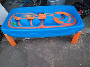 Step 2childrend kid hotwheel car and race tracker toy for action play table for Sale in Moreno Valley, CA