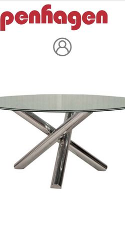 Copenhagen Glass Dining Table for Sale in Phoenix,  AZ